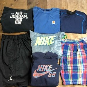 Boy's Lot (7) Nike SB Hoodie Jordan Shorts Polo